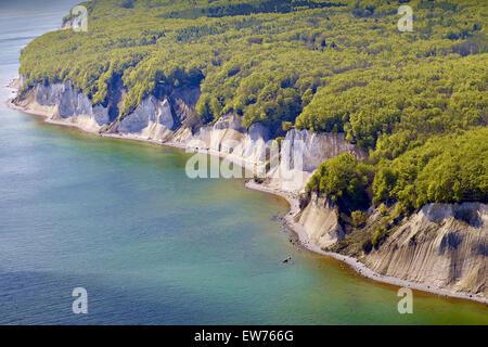 Chalk cliffs in Jasmund, Rügen Island, Germany - Stock Photo