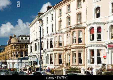 UK, Wales, Conwy, Llandudno, Gloddaeth Street, guest houses - Stock Photo