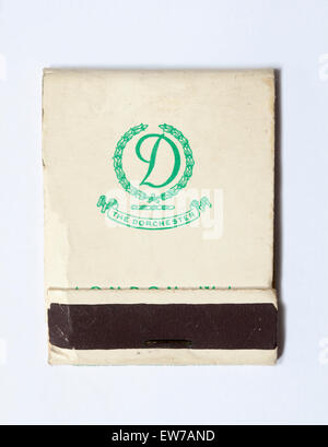 Vintage or Old Matchbook advertising The Dorchester Hotel Park Lane London - Stock Photo