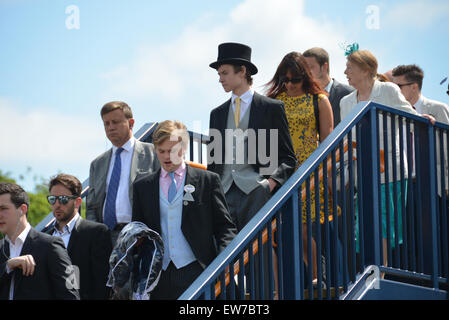 Ascot, Berkshire, UK. 19th June 2015. The annual Royal Ascot Races Credit:  Matthew Chattle/Alamy Live News - Stock Photo
