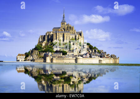 Mont saint Michel - Normandy - France - Stock Photo