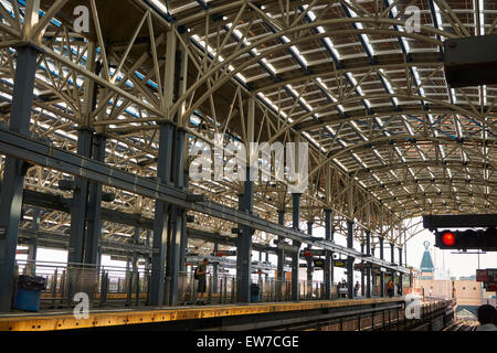 Stillwell Avenue Subway Station, Coney Island, Brooklyn, New York - Stock Photo