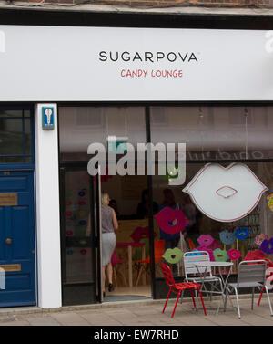Wimbledon London,UK. 19th June 2015. Sugarpova Pop Up store candy lounge by Russian tennis star Maria Sharapova - Stock Photo