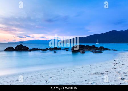 Sunset on the seashore of Koh Lipe Island, Thailand.