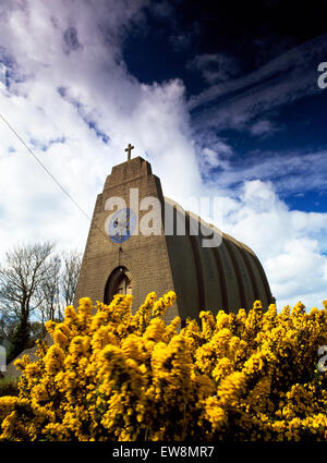Our Lady, Star of the Sea, and St Winefride's Roman Catholic Church, Amlwch, Anglesey, designed by architect Giuseppe - Stock Photo