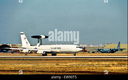 Usa. 1st Oct, 2013. USAF E-3 AWACS.Engineering, test and evaluation began on the first E-3 Sentry in October 1975. - Stock Photo