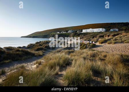 Saunton Sands. Braunton Burrows, Devon, UK. Part of the North Devon UNESCO Biosphere Reserve. - Stock Photo