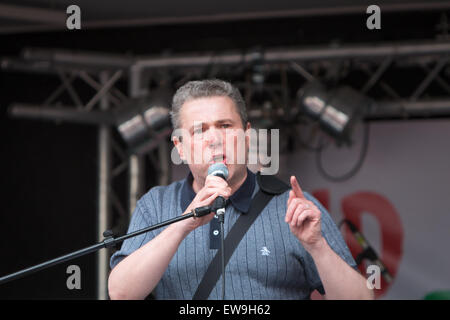 London, UK. 20th June, 2015. End Austerity Now Protest Credit:  Zefrog/Alamy Live News - Stock Photo