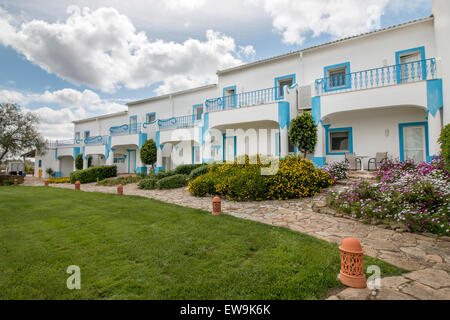 View of a beautiful estate villa on top of a hill located in the Alentejo region, Portugal. - Stock Photo