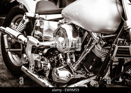 Fragment of a motorcycle Harley-Davidson close-up - Stock Photo