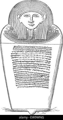 Sarcophagus of Eshmunazar, Phoenician king of Sidon, vintage engraved illustration. Le Tour du Monde, Travel Journal, - Stock Photo