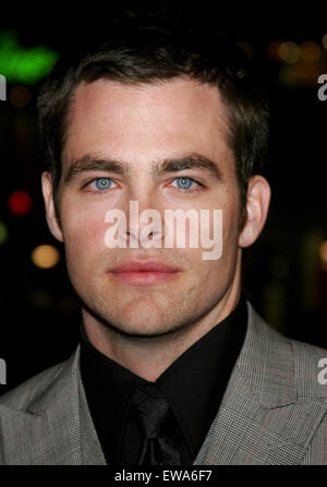 Chris Pine attends the World Premiere of 'Smokin' Aces' held at the Grauman's Chinese Theater in Hollywood. - Stock Photo