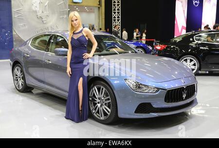 Maserati Ghibli Ermenegildo Zegna Edition Istanbul Autoshow 2015 - Stock Photo
