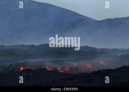 Mount Etna Lava field - Stock Photo