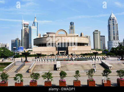 The Shanghai Museum of ancient Chinese art People's Square ( Huangpu ) China - Stock Photo