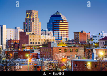 Durham, North Carolina, USA downtown skyline. - Stock Photo