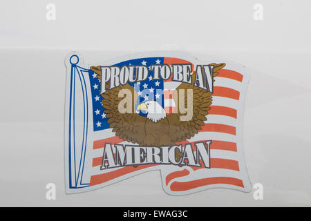 Proud to be American Car stickers - Stock Photo