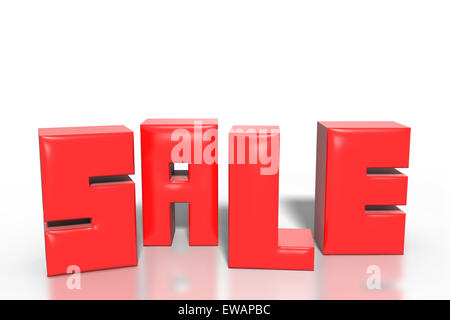 illustration of red write sale on white background - Stock Photo