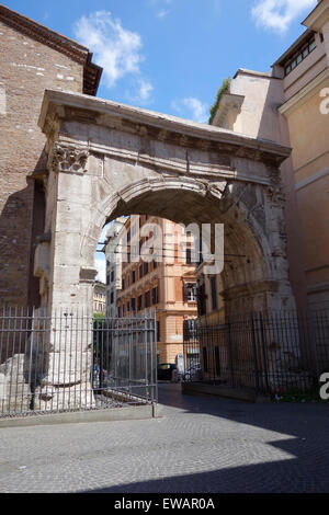 Triumphal Arch of Gallienus Rome Italy - Stock Photo