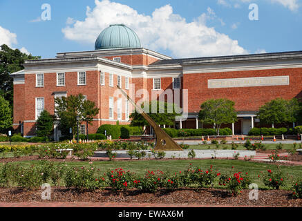 University of North Carolina at Chapel Hil, NC. Morehead planetarium. Stock Photo