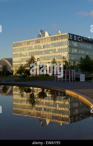 BBC Scotland Headquarters building, Pacific Quay, Glasgow. - Stock Photo