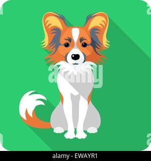 dog Chinese Crested icon flat design - Stock Photo