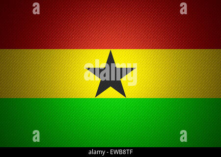 Ghana flag or banner on abstract texture - Stock Photo