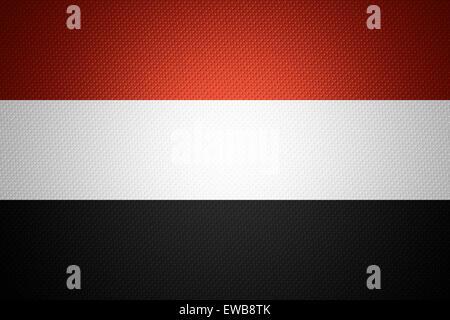 Yemen flag or Yemeni banner on abstract texture - Stock Photo