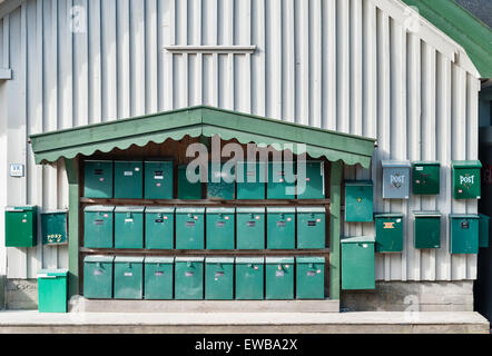 Norway - mailboxes on the island of Søndre Sandøy, one of the Hvaler islands south of Oslo near the Swedish coast - Stock Photo