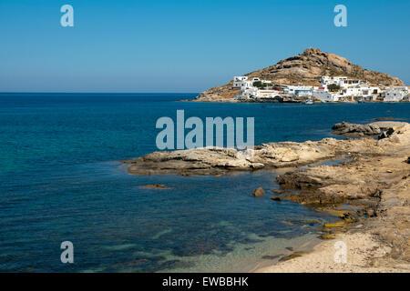 Griechenland, Kykladen, Mykonos, Halbinsel Divounia und Kalafati Strand - Stock Photo