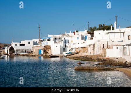 Griechenland, Kykladen, Mykonos, Halbinsel Divounia, stiller Fischerort mit Tavernen. - Stock Photo