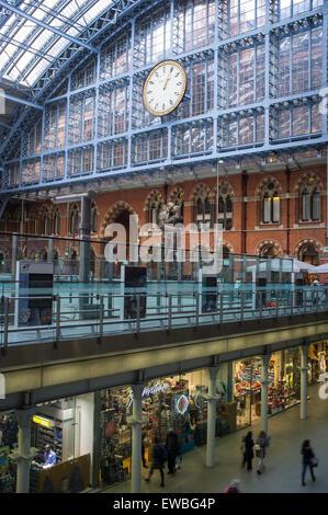 St Pancras station, London, UK - Stock Photo