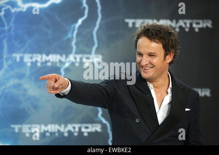 Berlin, Germany. 21st June, 2015. Actor Jason Clarke arrives to the European premiere of the film 'Terminator Genisys' in Berlin, Germany, 21 June 2015. Photo: Joerg Carstensen/dpa/Alamy Live News Stock Photo