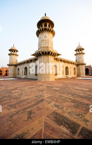 Dramatic view of Tomb of I'timad-ud-Daulah also known as 'Baby Taj' - Stock Photo