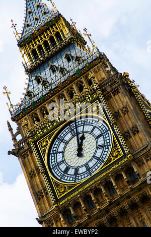 Elizabeth Tower known as Big Ben Clock Tower, London, UK. - Stock Photo