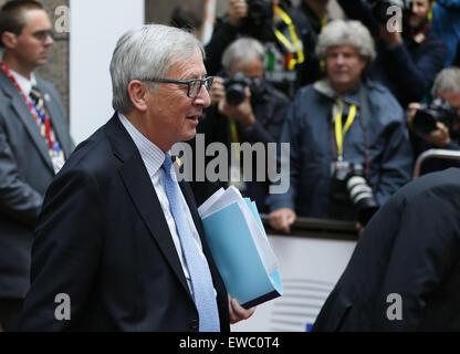 Brussels, Belgium. 22nd June, 2015. European Commission President Jean-Claude Juncker walks out of the European - Stock Photo