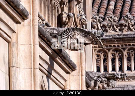 Gargoyles in Monastery of San Juan de los Reyes, Toledo - Stock Photo