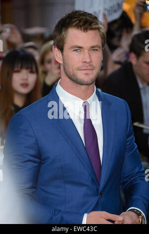 The Avengers: Age Of Ultron' UK premiere - Arrivals  Featuring: Chris Hemsworth Where: London, United Kingdom When: - Stock Photo