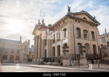 View of the Bodleian Library (Clarendon Building), Oxford, United Kingdom - Stock Photo