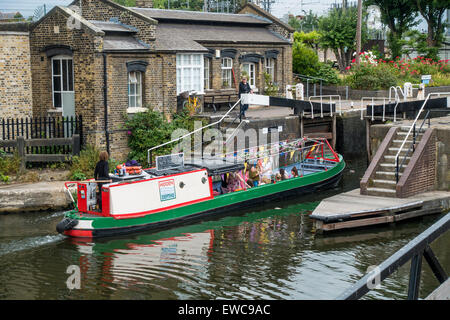 St Pancras Lock is a lock on the Regent's Canal, in the London Borough of Camden - Stock Photo
