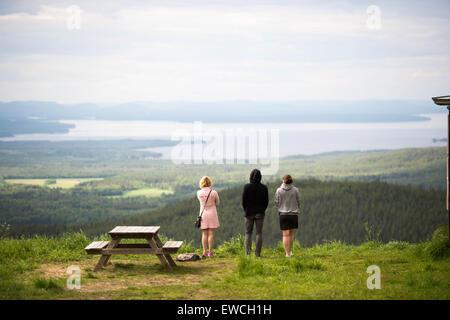 View over Siljan, Dalarna,Sweden - Stock Photo
