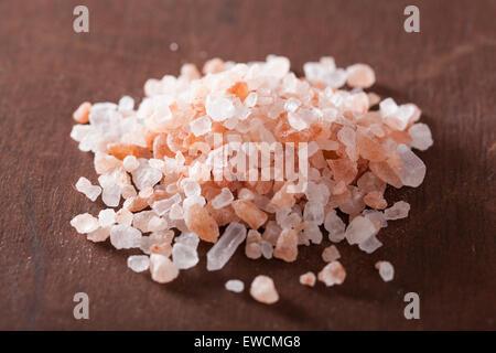 pink himalayan salt - Stock Photo