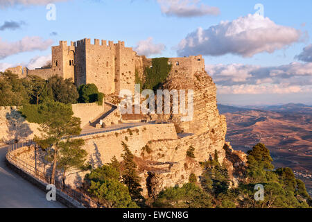Venere castle, Erice, Sicily - Stock Photo