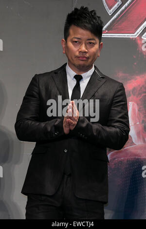 Tokyo, Japan. 23rd June, 2015. Actor and comedian Hiroyuki Miyasako attends the Japanese premiere for the film 'Avengers: - Stock Photo