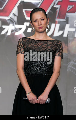 Tokyo, Japan. 23rd June, 2015. Actress Ryoko Yonekura attends the Japanese premiere for the film 'Avengers: Age - Stock Photo