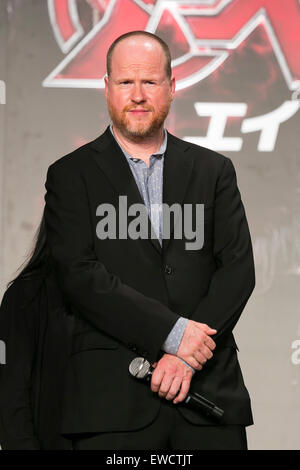 Tokyo, Japan. 23rd June, 2015. Director Joss Whedon attends the Japanese premiere for the film 'Avengers: Age of - Stock Photo