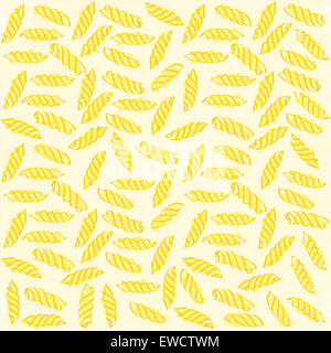 Fusilli Italian pasta Seamless pattern. Vector - Stock Photo