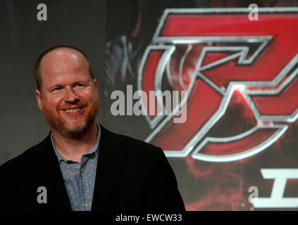 Tokyo, Japan. 23rd June, 2015. Film director Joss Whedon attends a premiere event for his new film 'Avengers: Age - Stock Photo