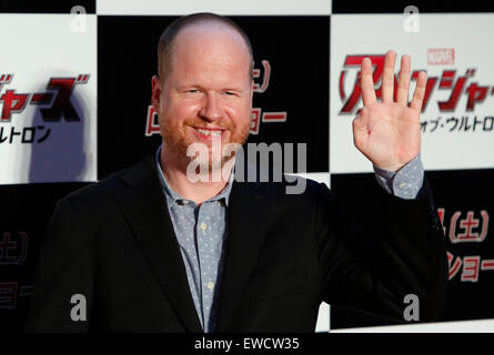 Tokyo, Japan. 23rd June, 2015. Film director Joss Whedon poses for photographers during a premiere event for his - Stock Photo