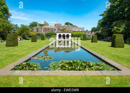Long Pond in the Queen Mother's Garden at Walmer Castle, Kent, UK